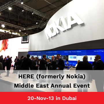 Trinetra Wireless invited to exhibit in HERE (Nokia) Middle East Annual Event