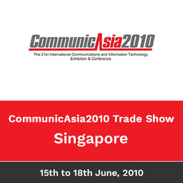 Trinetra Wireless Participates In CommunicAsia2010, Singapore