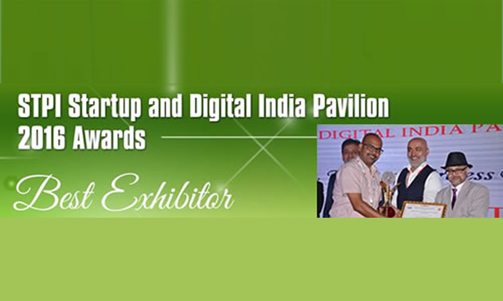 "Trinetra awarded as the ""Best Exhibitor"" for Digital India Pavilion in CeBIT 2016"