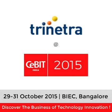Trinetra wireless in CeBIT India 2015