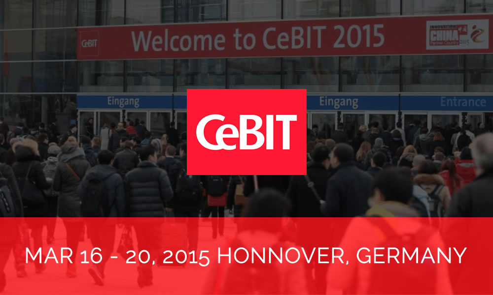 Trinetra showcases at CeBIT, Germany 2015