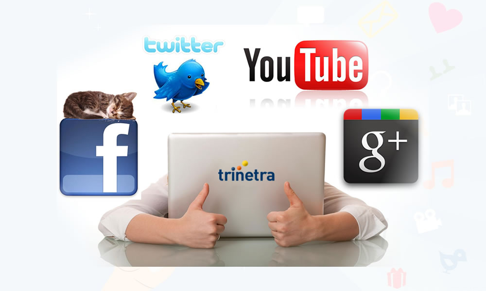 Trinetra's presence in social media to connect with users