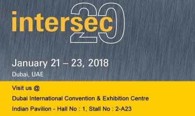 Trinetra Participates in Intersec 2018, Dubai
