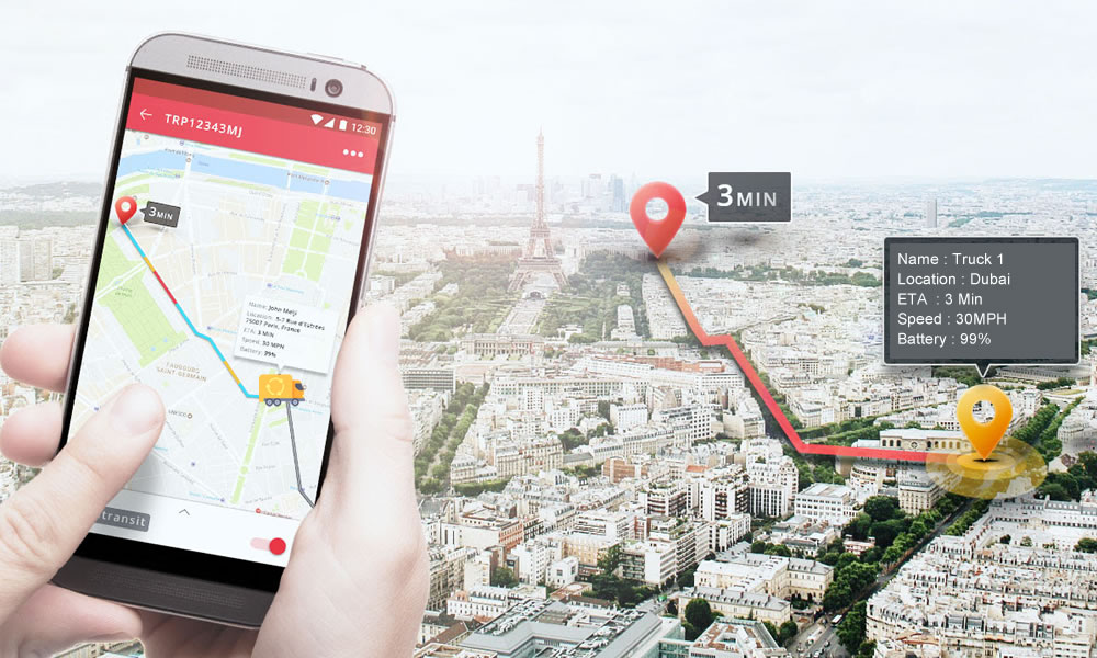 Get Trip live status with Trinetra Mobile app
