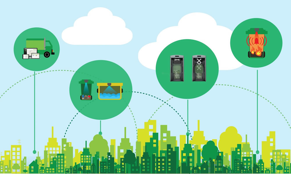 Door-to-Door Garbage Collecting System made efficient via Trinetra's software.